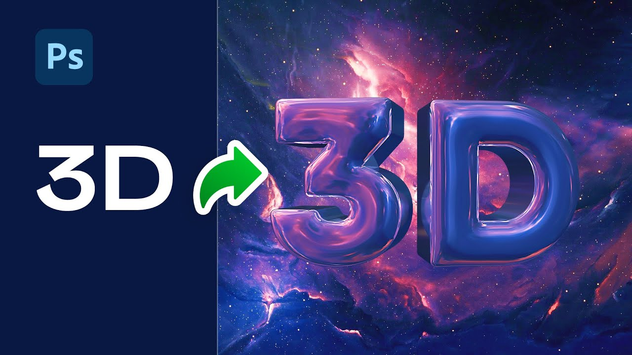 Реалистичный 3D текст в Фотошопе (Шаг за шагом) | Уроки Фотошопа